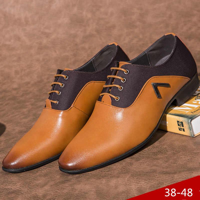 フォーマルシューズメンズドレスシューズ革ウェディングドレス男オックスフォード靴男性のオフィスのため scarpe ウォモ eleganti laarzen 婦人 569