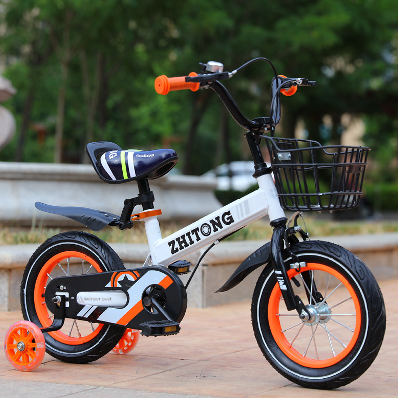 Children's Outdoor Bicycle 2-9y Carbon Steel Frame Anti-skid Thicken Tires 7.99kg Lightweight 12-18 Inch Child Mountain Bike image