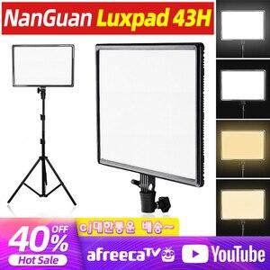 Светодиодный светильник Luxpad43h для цифровой зеркальной фотокамеры, светильник с регулируемой яркостью, светящаяся панель CRI95, двухцветный ...