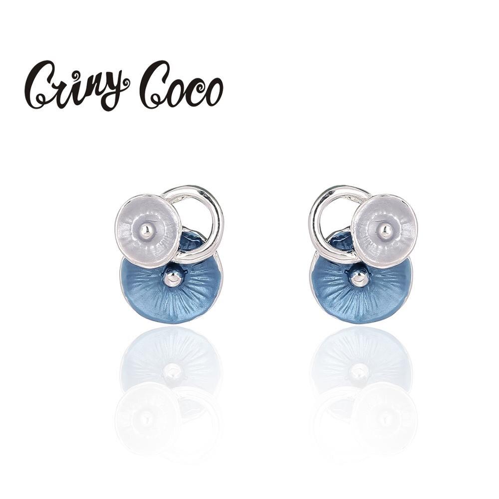 2020 Korea New Trendy Colorful Round Stud Earrings For Women Fashion Vintage Elegant Enamel Earring Oorbellen Holiday Pendientes