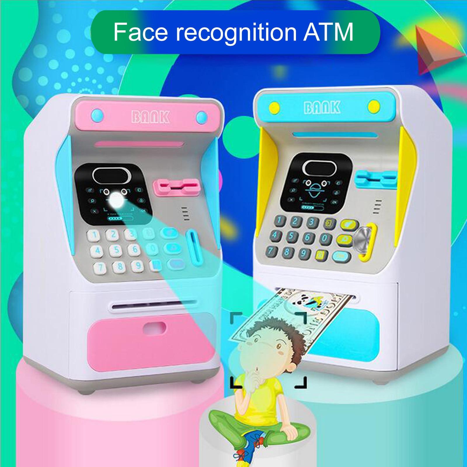 Aqumotic-máquina automática de depósito y retiro de dinero para niños, tarjeta de gran capacidad con contraseña, hucha, caja de ahorro, Juguetes