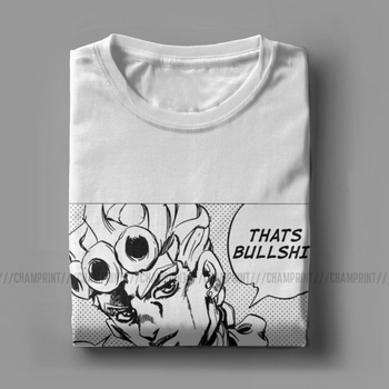 That's Bullshit T Shirts Men's Cotton Funny T-Shirts Jojos Bizarre Adventure Anime Jjba Manga Tees Short Sleeve Clothing 6XL 1
