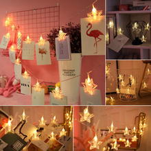 New  Bedroom  The living room  LED  Five-pointed star  Photo  Clip lamp  Photo wall  Transparent  Lamp string  Decorative lamp