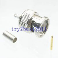 DHL/EMS 100 piezas conector BNC pin engarzado RG174 RG316 LMR100 COAXIAL recto C1 Accesorios para baterías     -