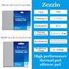 Zezzio high performance Multi-Size thermal pad for CPU/GPU Graphics Card Motherboard Silicone Pad thermal conductivity 12.8W/MK