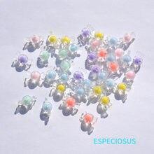 Diy moda jóias acessório transparente acrílico encaixe espaçador mix cor 17mm bonito açúcar grânulos pulseira que faz o departamento