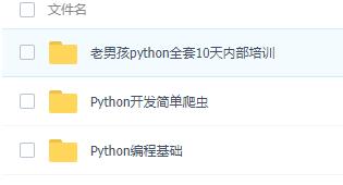 最全Python编程基础+简单爬虫+进阶项目+开发培训