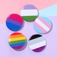Гордость Радуга, гей шпильки флаг Жесть значок Поддержка геи лесбиянки Би транссексуалов символ Pin значок брошь, ювелирные изделия, аксессу...