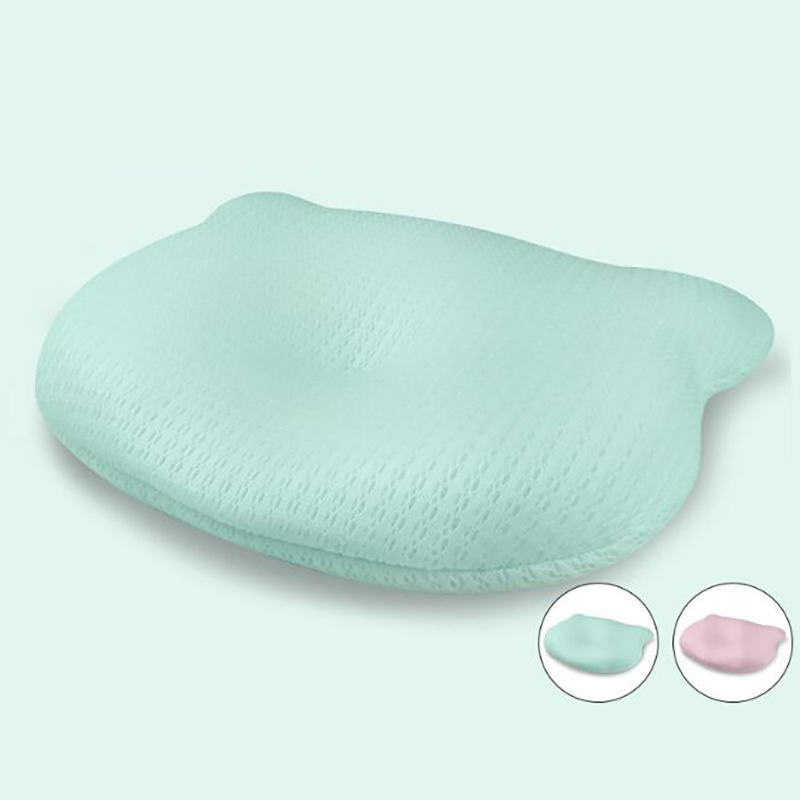 Cute Bear Pillow Baby Sleeping Head Positioner Head Shaping Pillow Newborn Infant Cushion Summer Bedding YKX009