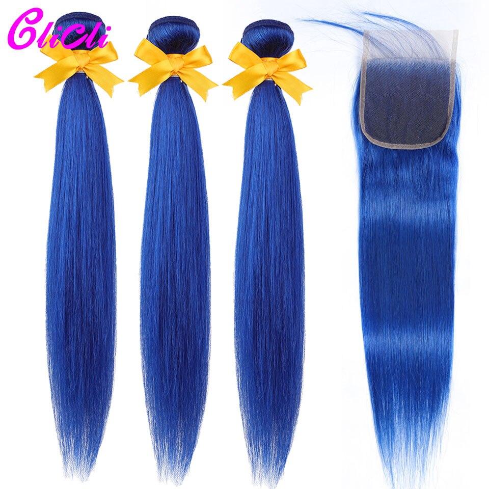 Blue 3 bundles with 4x4 lace closure_01