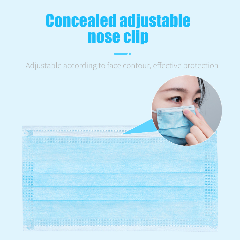 Image 5 - 50Pcs Antivirus Disposable Surgical Medical Mask Earloops Masks  Virus Nonwove 3 Layer Ply Filter Mouth Face Mask Anti dust virus  -