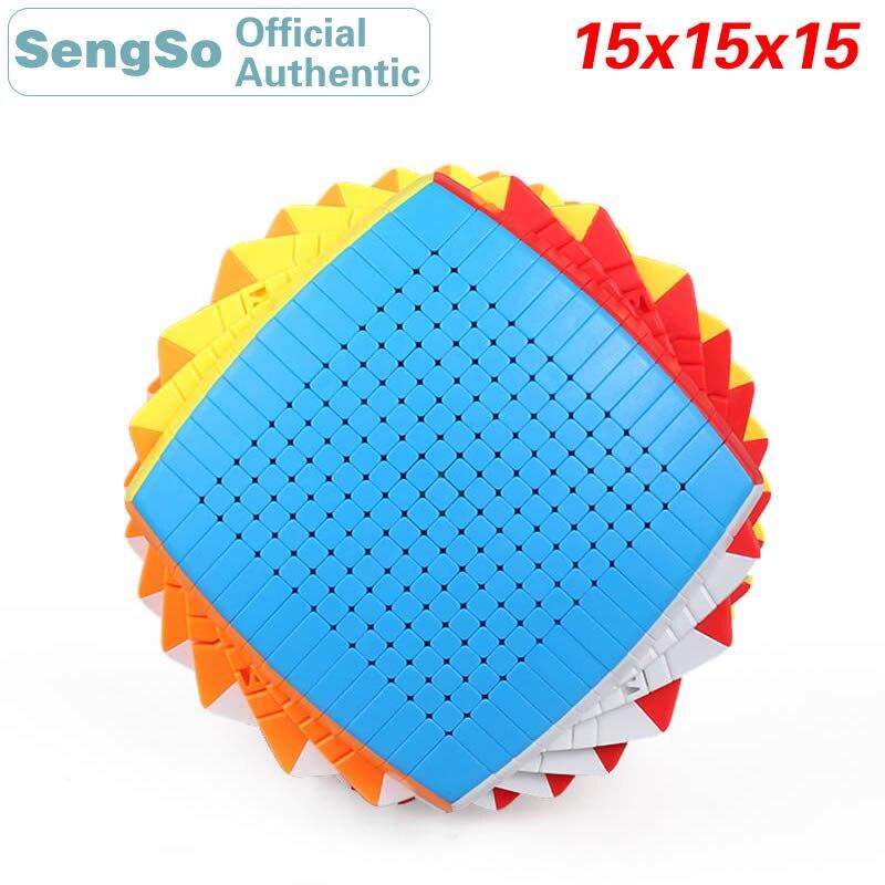 ShengShou 15x15x15 Cube magique sans autocollant 15x15 vitesse Puzzle Antistress Twisty Puzzle jouet éducatif pour enfants avec boîte-cadeau