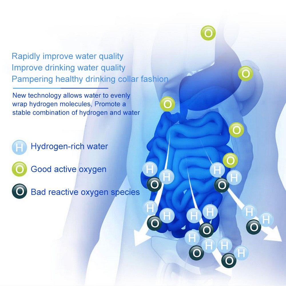 2Л богатая водородная бутылка для воды ионизатор щелочной воды машина фильтр для воды напиток генератор водорода 110 В/220 В ЕС/США - 4