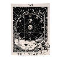 Винтажный Европейский настенный гобелен в стиле колдовства, багия, Звезда Луна солнце, комната, изголовье, Аррас, ковер, астрология, одеяло