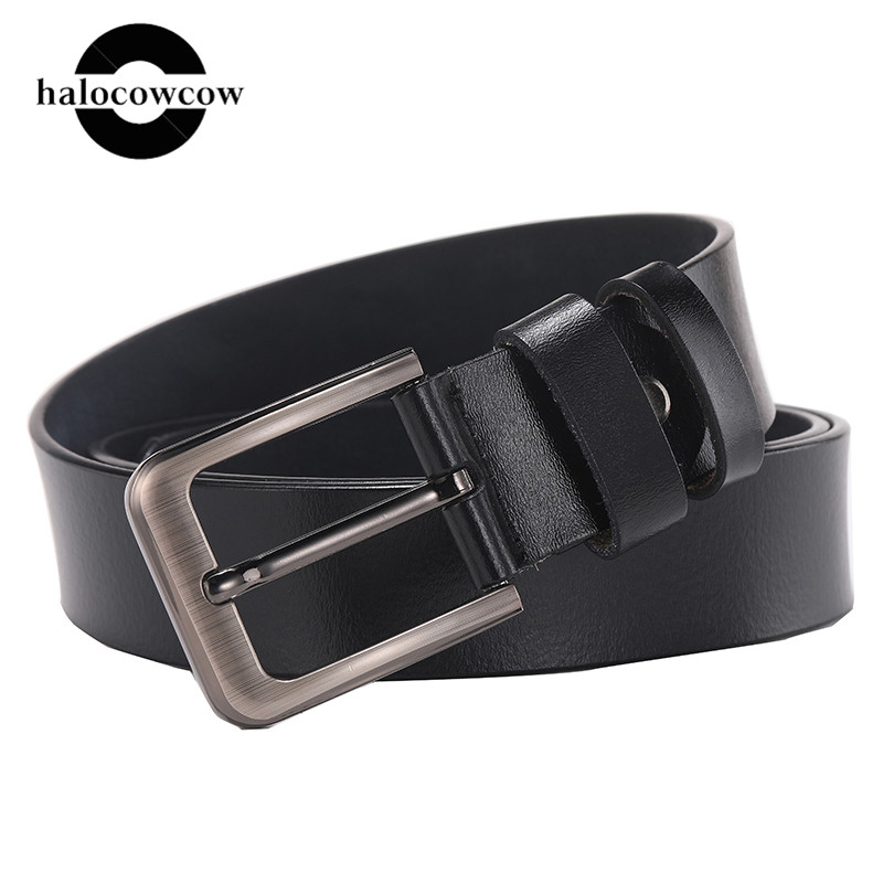 140 170cm Large Size Genuine Leather Men Belt High Quality Cowhide Pin Buckle Male Belts Lengthen Designer Belt For Men's Gifts