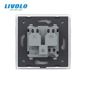 Image 5 - Livolo EU Standard Israel Power Socket, Crystal Glass Panel,100~250V 16A Wall Power Socket,C7C1IL 11/12/13/15(7colors),no logo