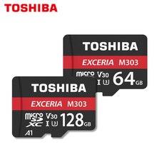 מקורי כרטיס זיכרון 128GB טושיבה מיקרו SD כרטיס 64GB SDXC 128gb 64gb U3 פלאש כרטיס V30 TF כרטיס מקסימום 98 MB/s M303 עבור טלפון
