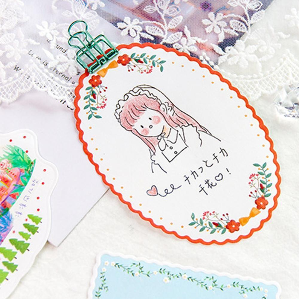 20 Sheets Cute Lace Memo Pads Kawaii Sticky Notes Adhesive Writing Notepad For Kid Girls Gifts School Office Supplies Stationery