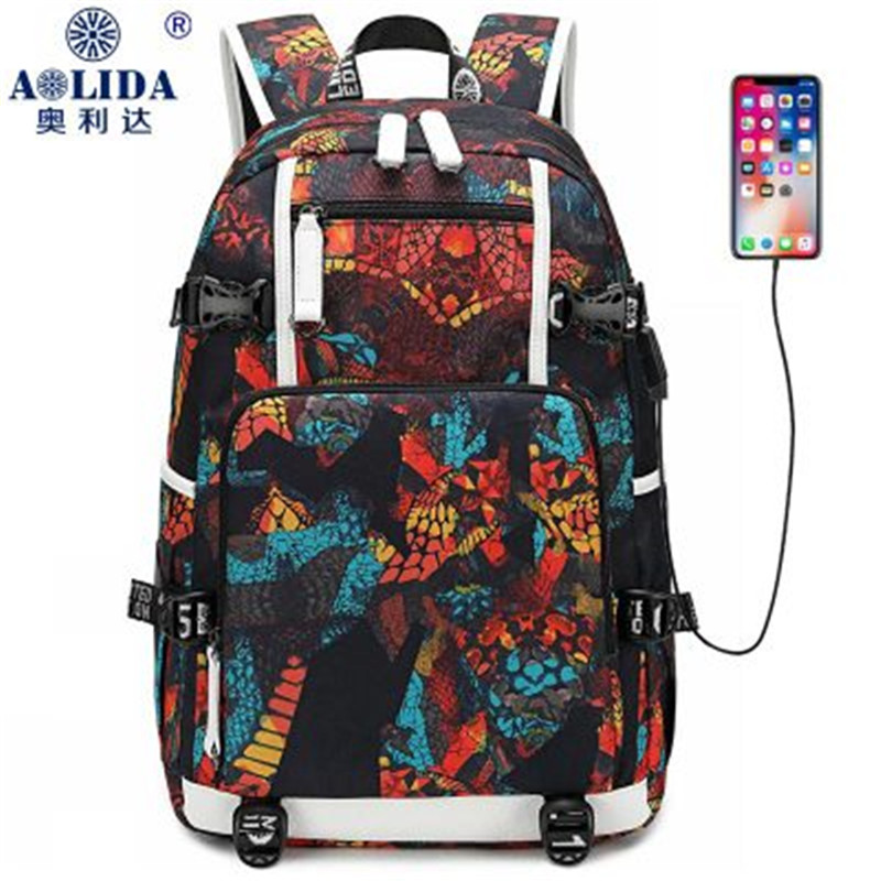 Fashion Printing Backpack Female 2019 New Korean Version Of The Middle School Student Bag Men And Women Backpack School Bags