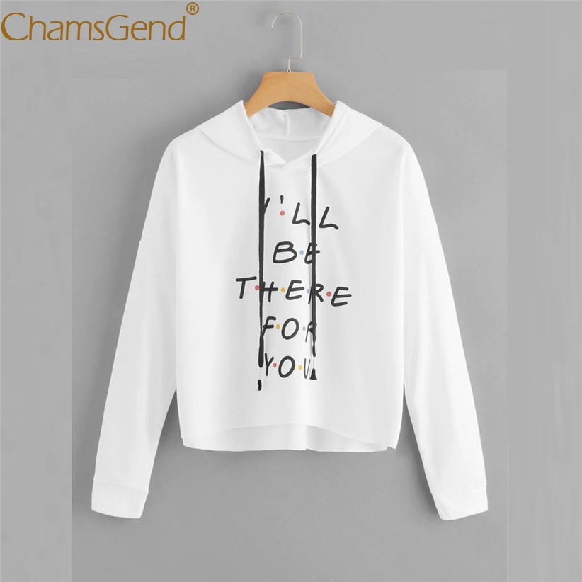 I'LL BE THERE FOR YOU Hoodie Sweatshirt for Women Girls Long Sleeve Lace up Pullover Tops Pink White Black Blouse Shirts 907