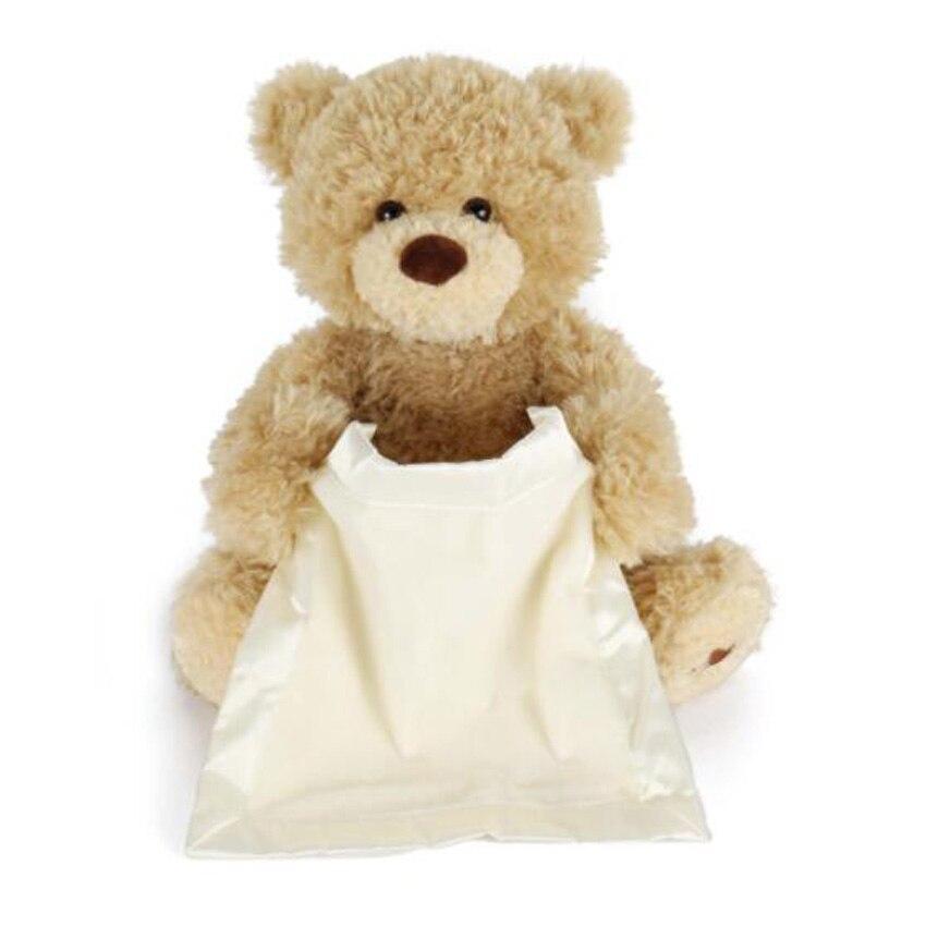 30cm Peek-A-Boo Elephant Baby Plush Toy Bear Stuffed Animals Kids Music Doll US
