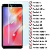 Protector de cristal templado 9D para Xiaomi Redmi Note 6, 5, 5A, 4, 4X Pro, Redmi 5 Plus, 6, 6A, 4X, S2, K20