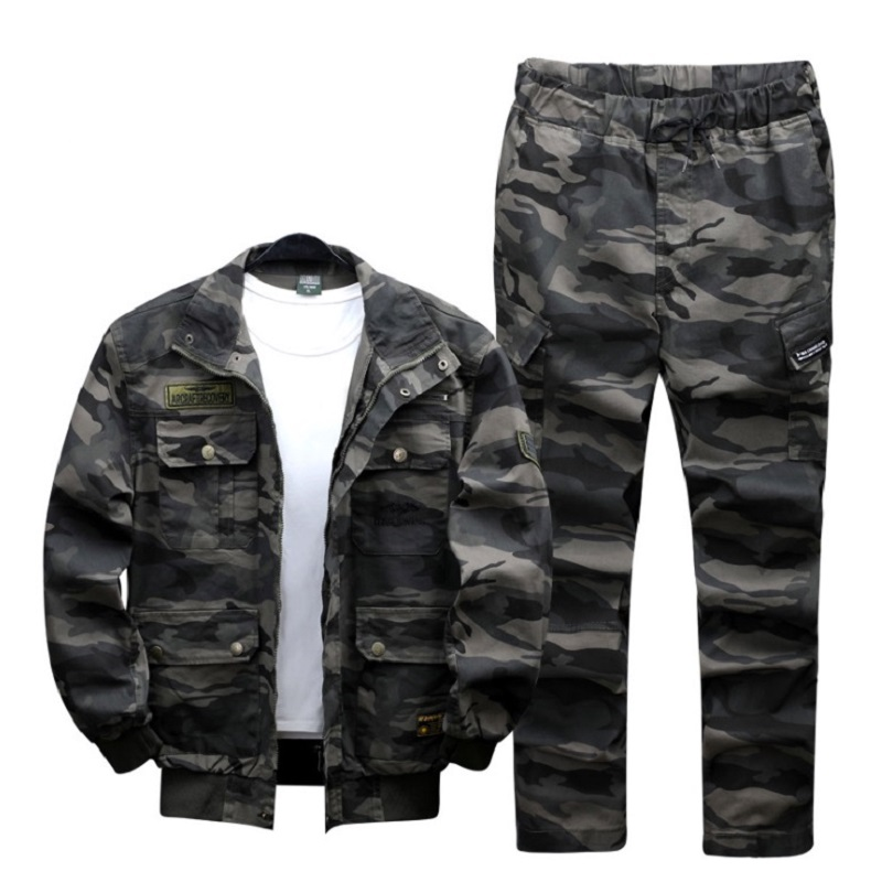 屋外特殊な軍隊メーカー直接販売ストレッチ迷彩スーツ軍事訓練男性綿純粋な綿の迷彩  グループ上の スポーツ & エンターテイメント からの 狩猟ギリースーツ の中 1