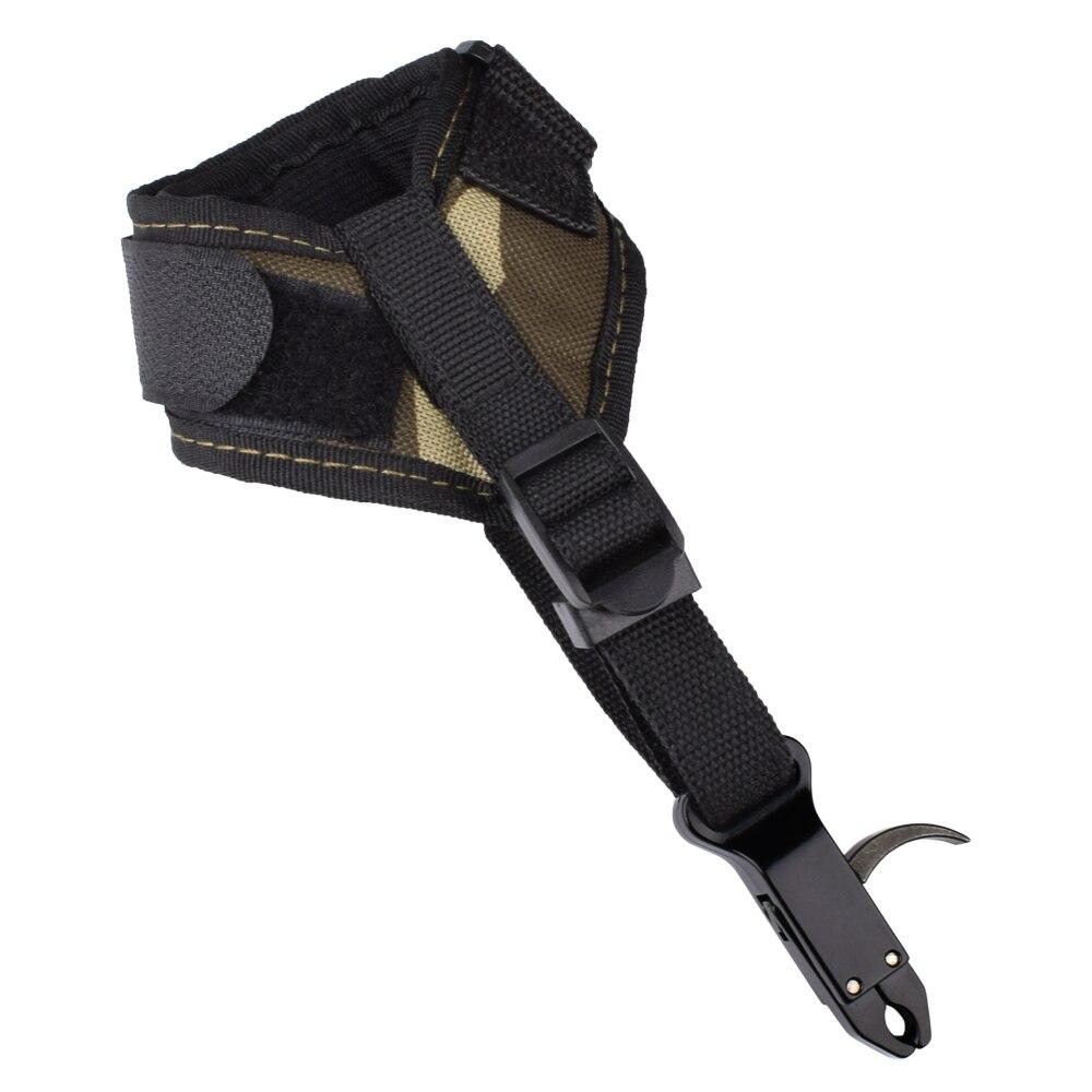 1Pcs Camo Release Aid Compound Bow Trigger Caliper Strap Wrist Band Accessories Archery Bow Free Shipping