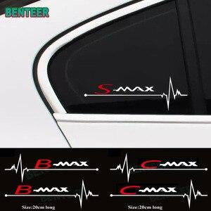 2pcs/lot car windows sticker For Ford Smax S-max Cmax C-max BMAX Car Accessories(China)