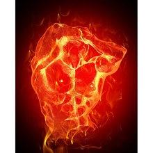 Diy картина по номерам Абстрактная живопись огонь человек комплект