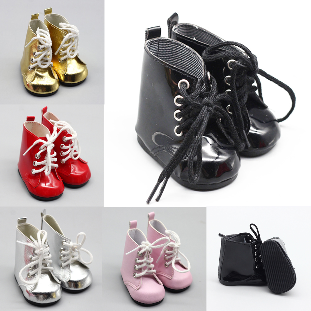 1 Pair 18Inch 43cm baby Doll Toy Mini Doll Shoes For Cartoon Doll Boots Dolls Sneackers Accessories Hot Sale 7 Cm(China)
