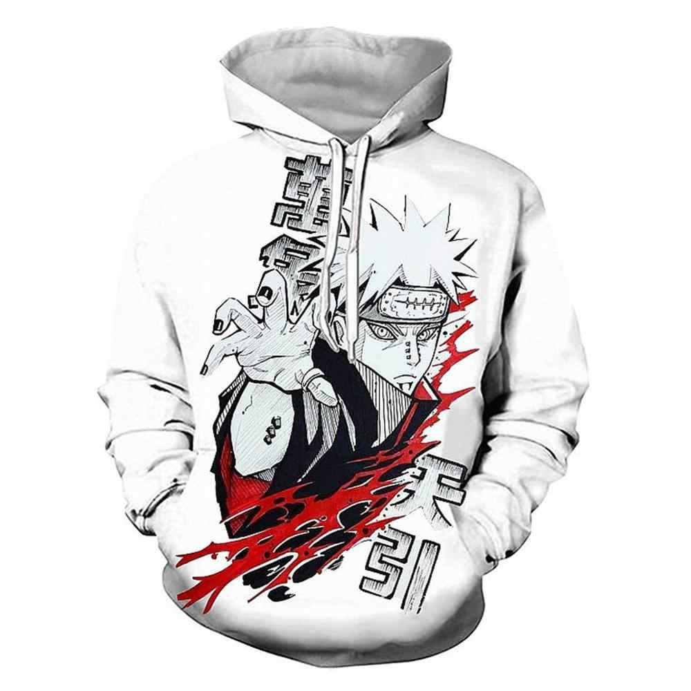 2019 Naruto kurtka z kapturem mężczyzn 3D bluzy z kapturem Akatsuki płaszcz Uchiha itachi Cosplay kostium Kakashi Anime bluzy Harajuku bluza z kapturem