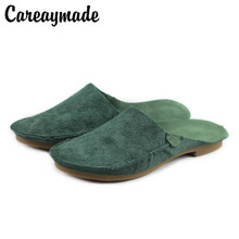 цены Careaymade-Woman Shoes Flat 100% Genuine Leather Slip on Ladies Flat Shoes 2020 pure handmade Female Summer Footwear (1935-1)