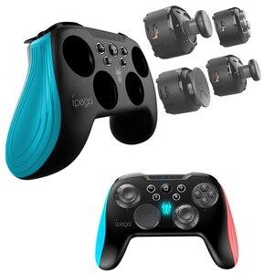 Image 2 - 닌텐도 스위치 콘솔 블루투스 무선 컨트롤러 조이스틱 게임 패드 3D 변경 가능한 키 백라이트 터보 안드로이드 태블릿 PC 용