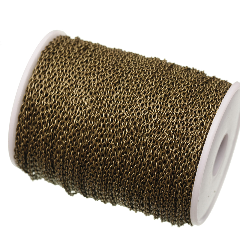 5 м/лот, фурнитура для изготовления ювелирных изделий, покрытая бронзой