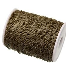 5 m/lote bronze antigo chapeado cabo link correntes descobertas para diy jóias fazendo