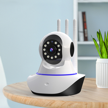 Full HD 1080P WiFi IP Camera Wireless Pan Tilt 4X Zoom Network Camera 3 Antennas Strong Signal Home Security Baby Monitor Alarm
