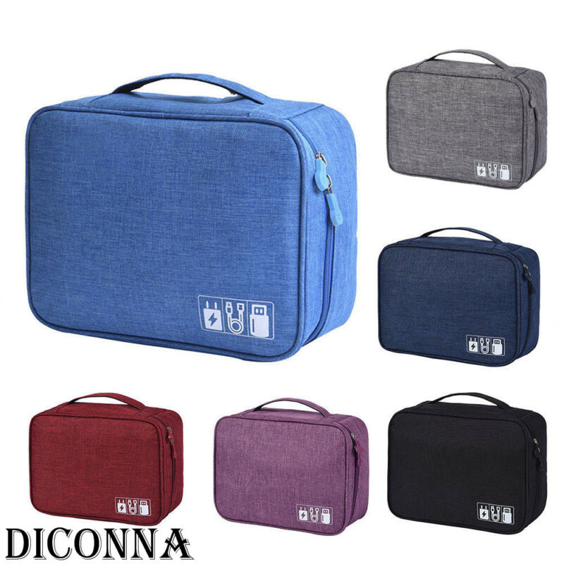 Waterproof Travel Storage Hand Bags Electronics Accessories USB Charger Cable Insert Drive Case Data Cable Gadget Organizer