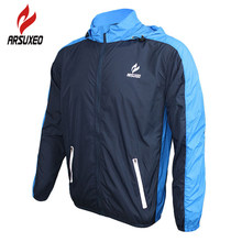 ARSUXEO Outdoor Sports Cycling Jerseys MTB Bike Bicycle Running Jacket Men Waterproof Windproof Long Sleeve Wind Coat Clothing(China)