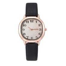 Роскошный кожаный браслет свободного покроя Кварцевые наручные часы для женщин стильные женские часы Часы Часы mujer Relogio женщина для