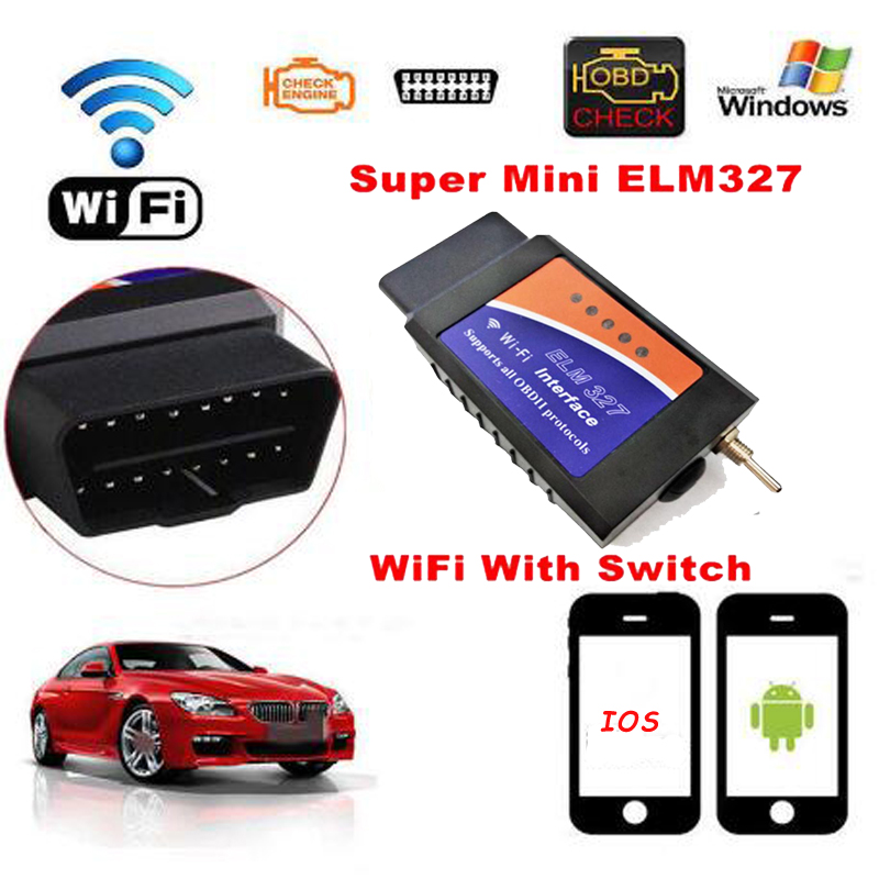 Reset ELM327 WIFI Switch V1.5 For IOS Android ELM327 Bluetooth WIFI OBD2/OBDII ELM 327 CAN-BUS Diagnostic Tool Code Reader
