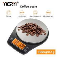 Кухонные электронные весы yieryi с таймером 3 кг/01 г