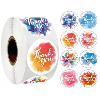 Thank You Stickers for Seal Labels 1 Inch Gift Packaging Birthday Party Stationery Sticker 100pcs/200pcs/300pcs/500pcs