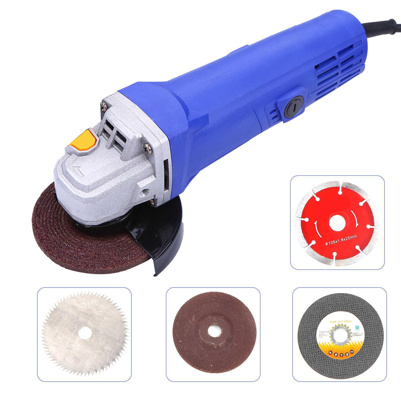 Kkmoon High Power Huishoudelijke Hoek Molen Snijmachine Hand gehouden Molen Waxen Polijsten Elektrische Tool Blauw 100mm/ 115mm