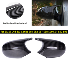 цена на Carbon Fiber Rearview Mirror Cover for BMW Old 1/3 Series E81 E82 E87 E88 E90 E91 E92 E93 Car Rear View Mirror Covers Caps Case