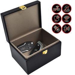 Yeni araba anahtarlık engelleyici kutusu Faraday sinyal anahtar Fob koruyucu kutusu RFID sinyal engelleme çantası için cep telefonu gizlilik koruma
