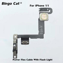 100% Original ON OFF Power Side Button Flex Cable With Flash Light For iPhone 11 11 pro 11 pro max Replacement Parts