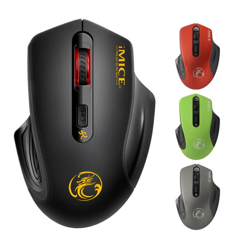 Wireless Mouse Computer Mouse Wireless 2.4 Ghz 1600 DPI Gaming Ergonomic Mouse Sound And Silent Version With Battery