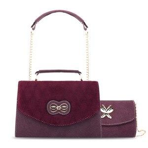 Image 1 - 2019 Four Seasons Wide Shoulder Band Wine Bag Single Shoulder Slope Envelope Bag Hand held small square bag leather underarm bag