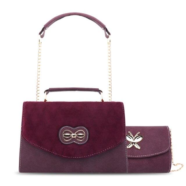 2019 Four Seasons Wide Shoulder Band Wine Bag Single Shoulder Slope Envelope Bag Hand held small square bag leather underarm bag